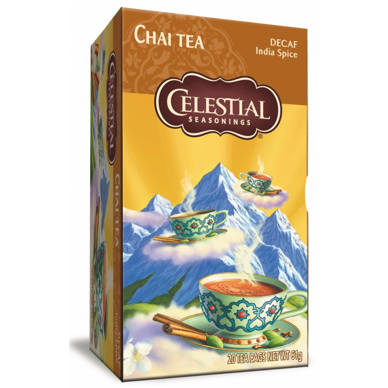 Celestial Chai Tea Decaf India Spice
