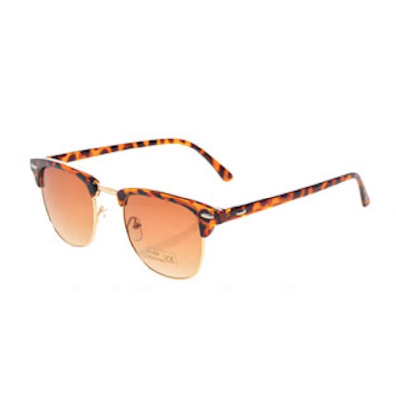 Clubmaster Skildpadde Solbriller med Brunt Glas