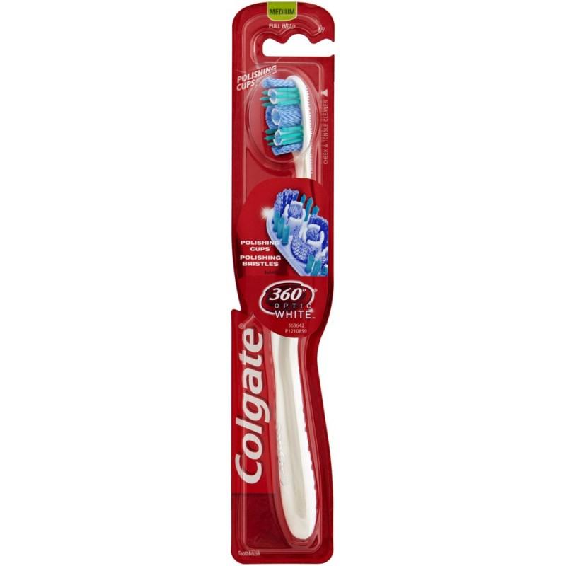 Colgate 360 Optic White Medium Toothbrush