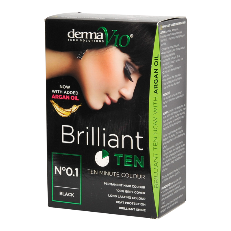 DermaV10 Brilliant Ten Hair Colour 0.1 Black