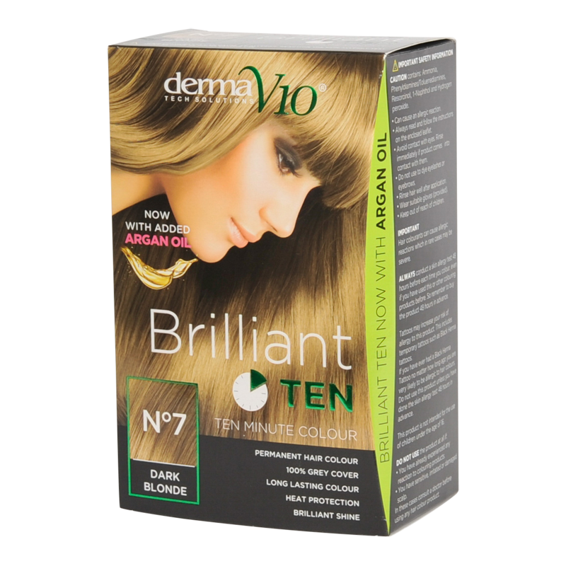 DermaV10 Brilliant Ten Hair Colour 7 Dark Blonde