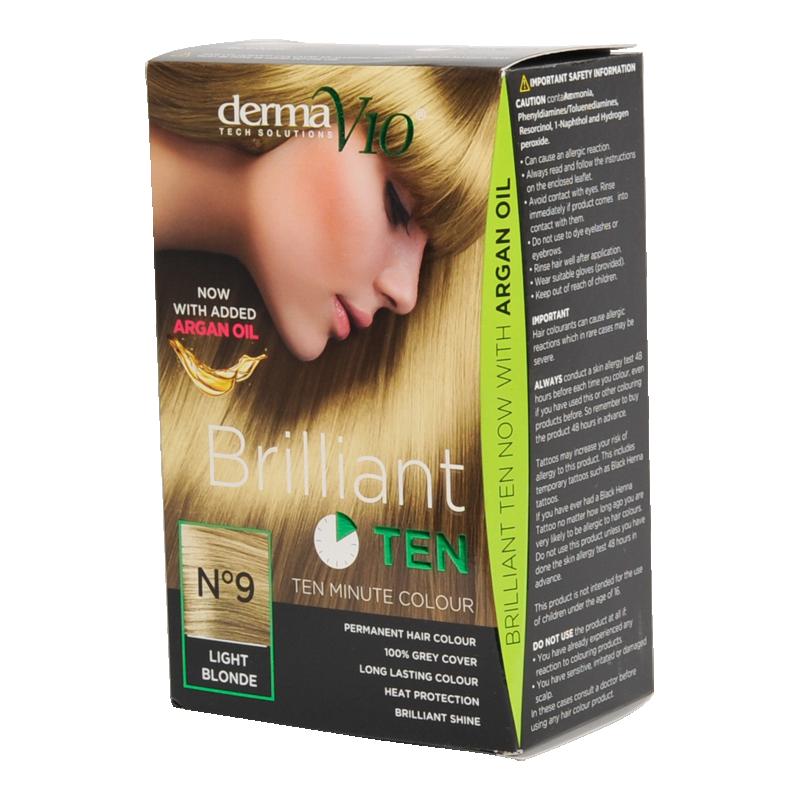DermaV10 Brilliant Ten Hair Colour 9 Light Blonde