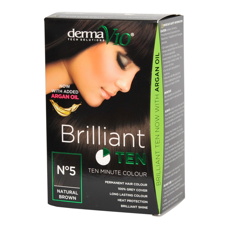 DermaV10 Brilliant Ten Hair Colour Natural Brown