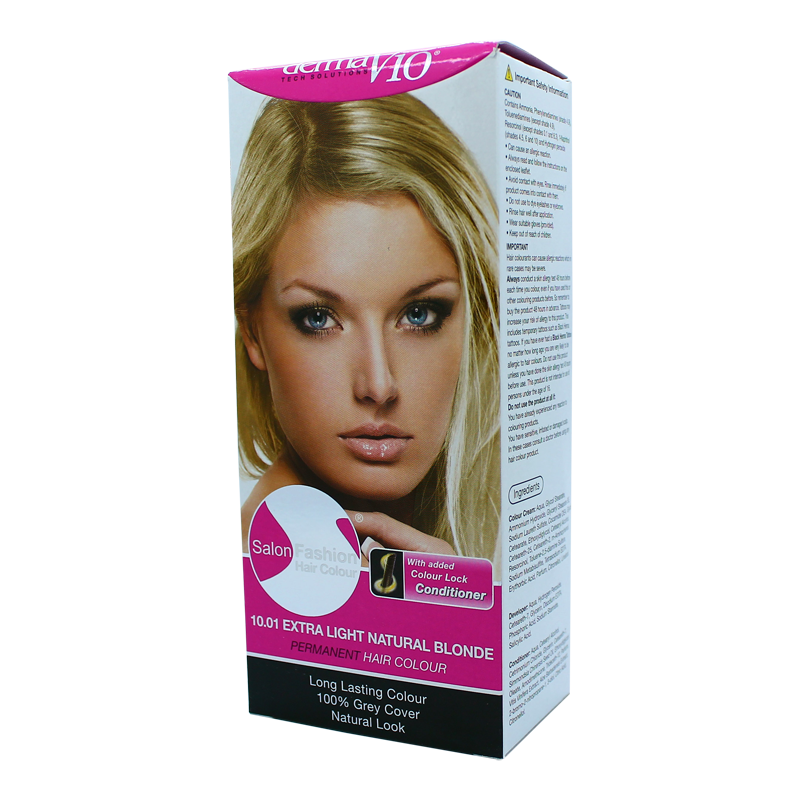 DermaV10 Salon Fashion Hair Colour Extra Light Natural Blonde