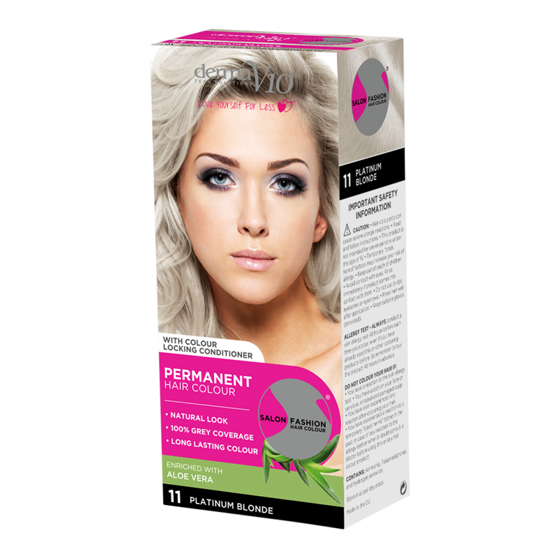 DermaV10 Salon Fashion Hair Colour Platinum Blonde