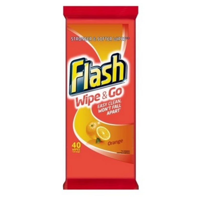 Flash Wipe & Go Wipes Orange