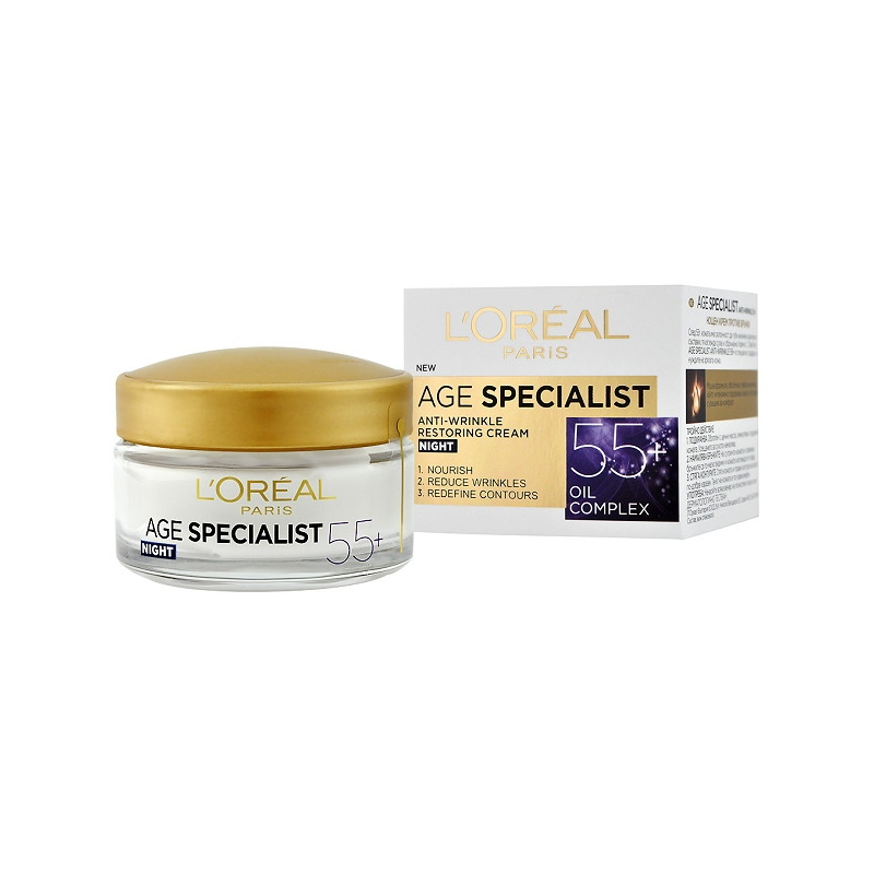 L'Oreal Age Specialist 55+ Anti-Wrinkle Night Cream