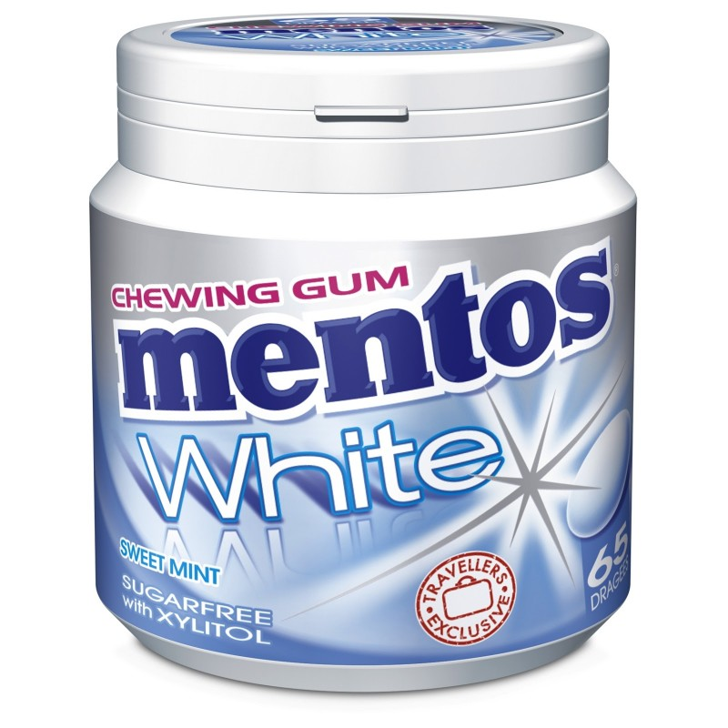 Mentos White Peppermint Gum