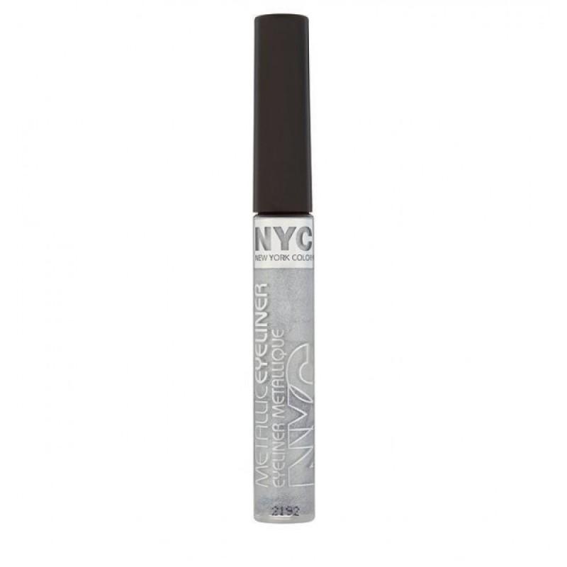 NYC Metallic Liquid Eyeliner 865 Silver Light