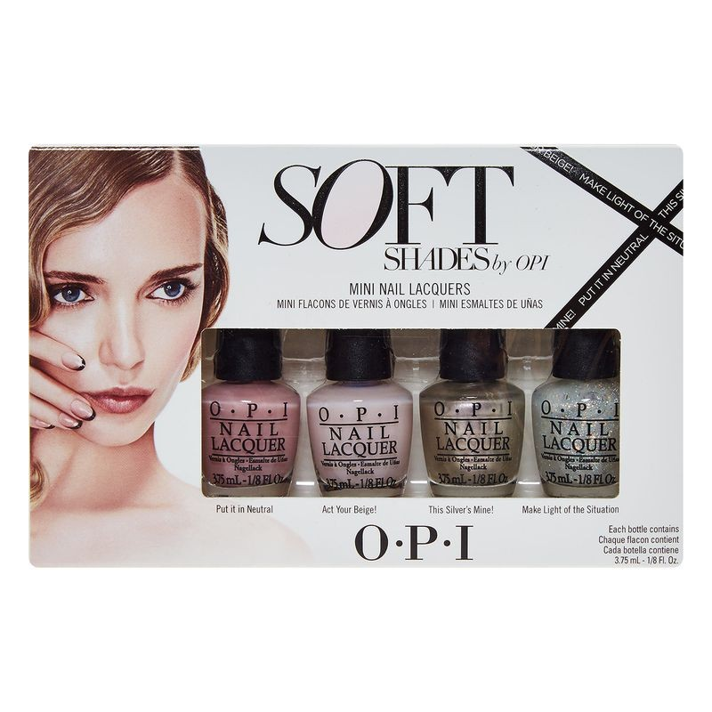 OPI Soft Shades Mini Nail Polish Collection 4 x 3.75 ml - £7.45