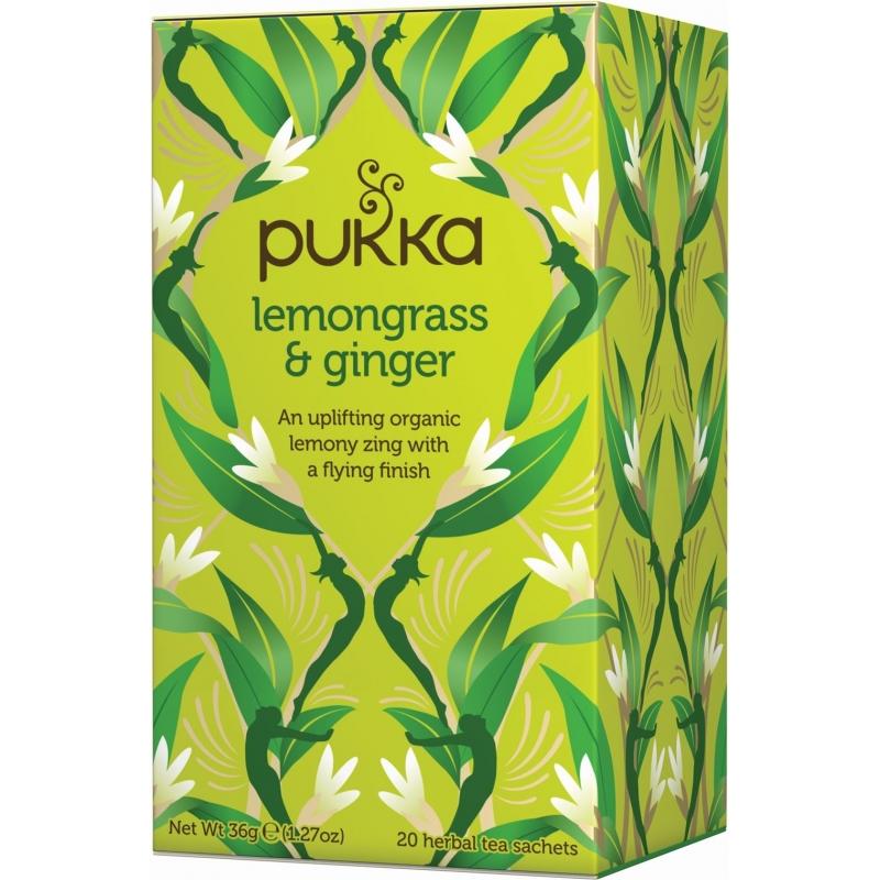 Pukka Lemongrass & Ginger Tea Øko