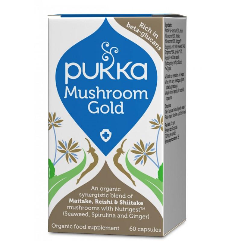Pukka Mushroom Gold Kapsler Øko