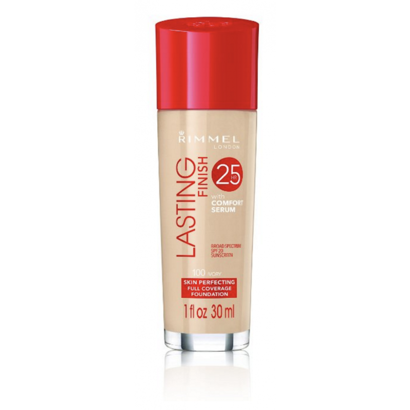 Rimmel Lasting Finish 25h Foundation With Comfort Serum 100 Ivory