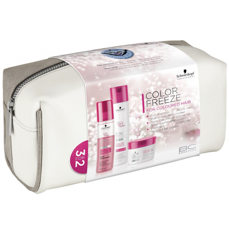 Schwarzkopf Bonacure Color Freeze Hair Set With Bag