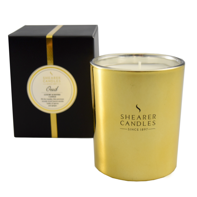 Shearer Candles Scented Candle Metallic Gold Oud Gift Box