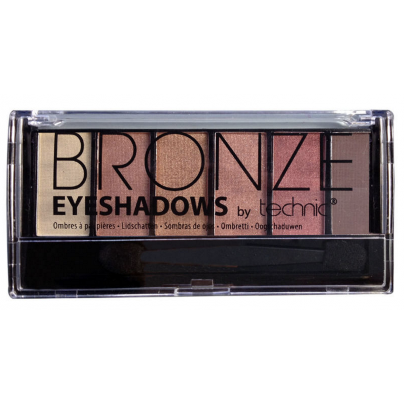 Technic 6 Shade Eyeshadow Palette Bronze