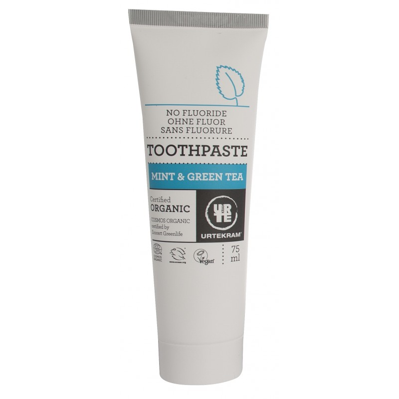 Urtekram Mint & Green Tea Toothpaste Organic