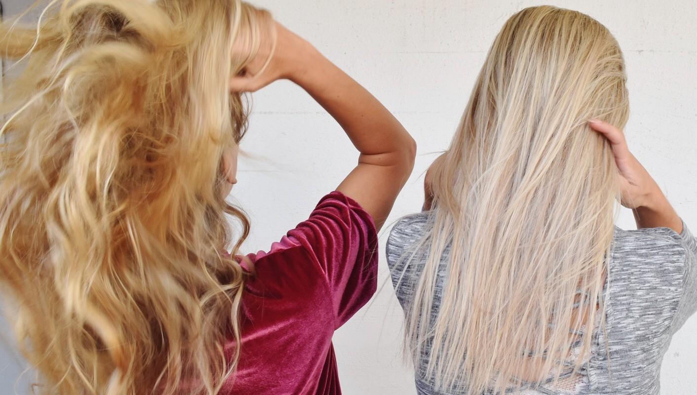 Gult hår huskur