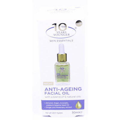 10 Years Younger Anti-Ageing Facial Night Oil 30 ml
