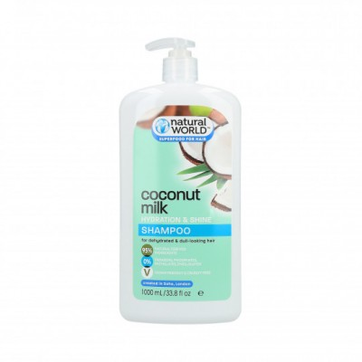 Natural World Coconut Water Hydration & Shine Shampoo 1000 ml