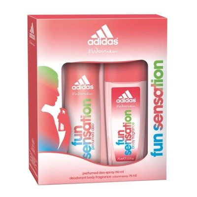 Image of   Adidas Fun Sensation Deospray & Showergel Set For Women 75 ml + 150 ml