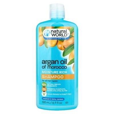 Natural World Moroccan Argan Oil Moisture Repair Shampoo 500 ml