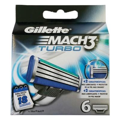 Image of   Gillette Mach3 Turbo Barberblade 6 stk