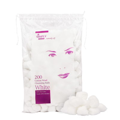 Simply Cotton Wool Ball 200 kpl