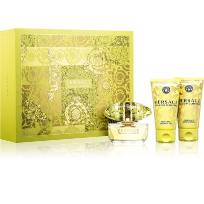 Versace Yellow Diamond EDT & Body Lotion & Shower Gel 3 x 50 ml