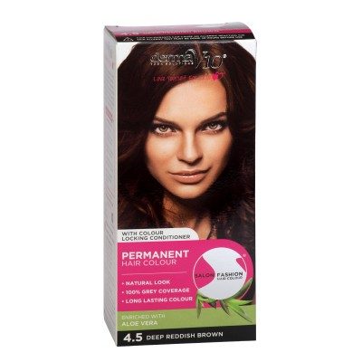 DermaV10 Salon Fashion Hair Colour Deep Reddish Brown 1 st