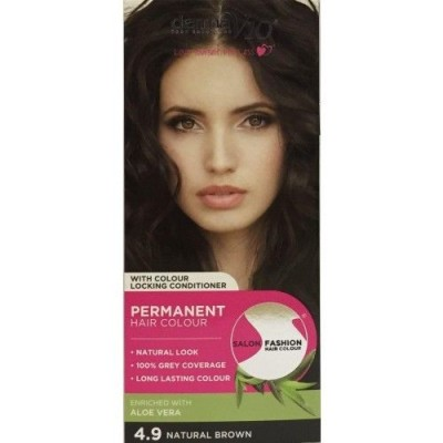 DermaV10 Salon Fashion Hair Colour Natural Brown 1 stk