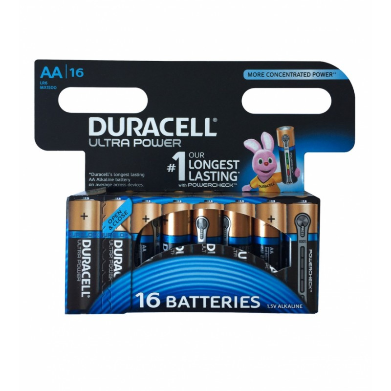 Duracell AA Duralock Ultra 16 stk Batterier