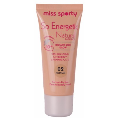 Image of   Miss Sporty So Energetic Natural Radiance Foundation 02 Medium 30 ml