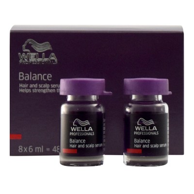 Image of   Wella Balance Hair & Scalp Serum 8 x 6 ml