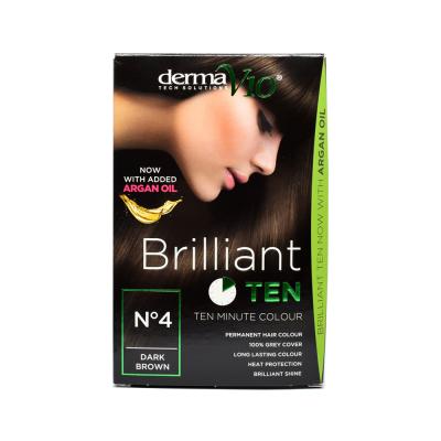 DermaV10 Brilliant Ten Hair Colour 4 Dark Brown 1 st