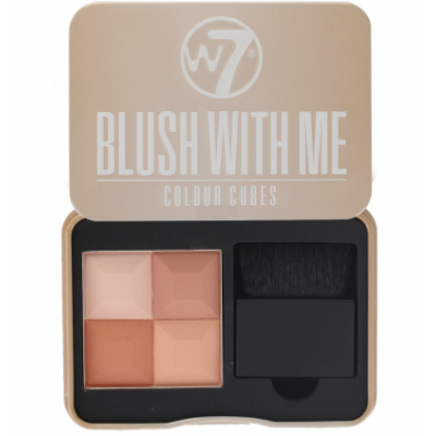 Image of   W7 Blush With Me Colour Cubes Honeymoon 8,5 g