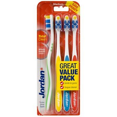 Jordan Total Clean Zahnbürsten Mittel 4 stk