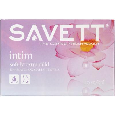 Savett Intimate Wet Wipes 10 kpl