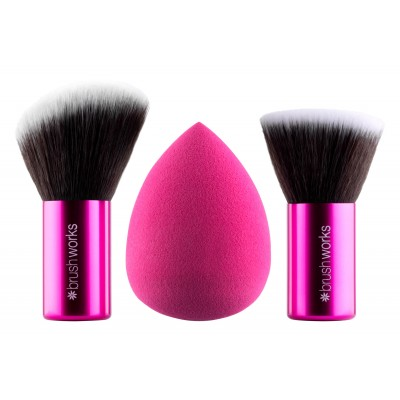 Brush Works The Complete Complexion & Make-Up Kit 3 st