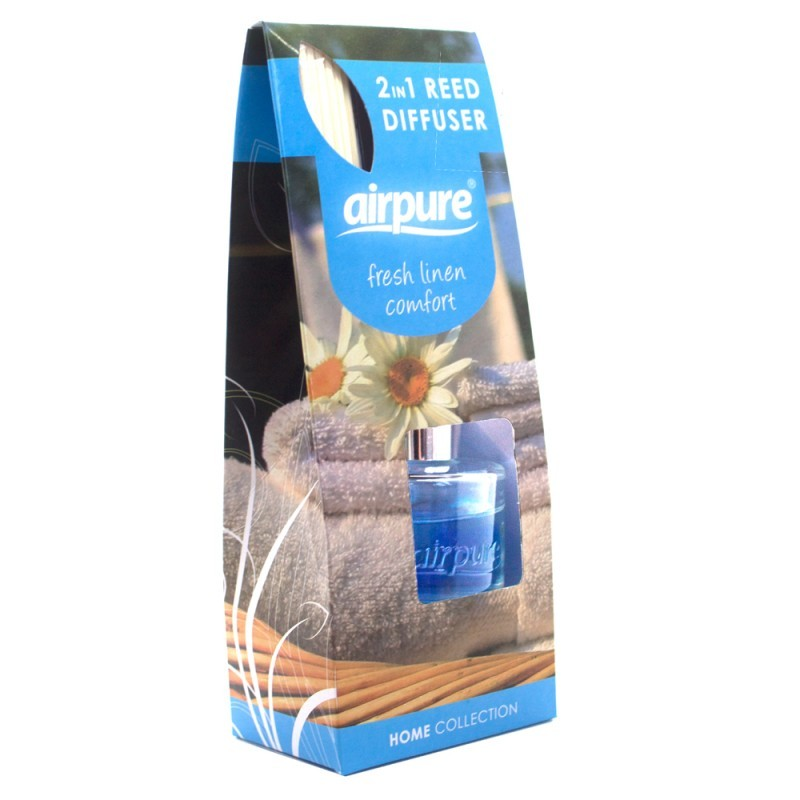 Airpure Reed Diffuser Home Collection Linen Room 30 Ml: Airpure Reed Diffuser Home Collection Fresh Linen Comfort