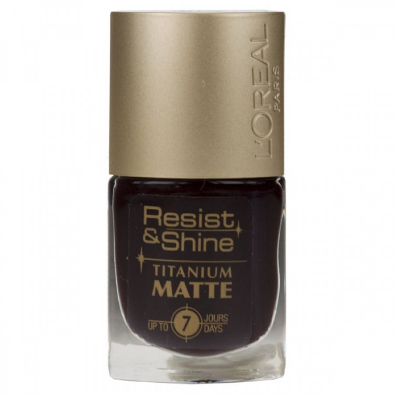 How To Clean A Titanium Nail: L'Oreal Resist & Shine Titanium Nailpolish 502 Matte 9 Ml