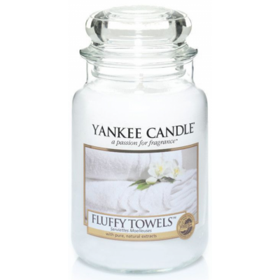 Yankee Candle  Classic Large Jar Fluffy Towels Candle 623 g
