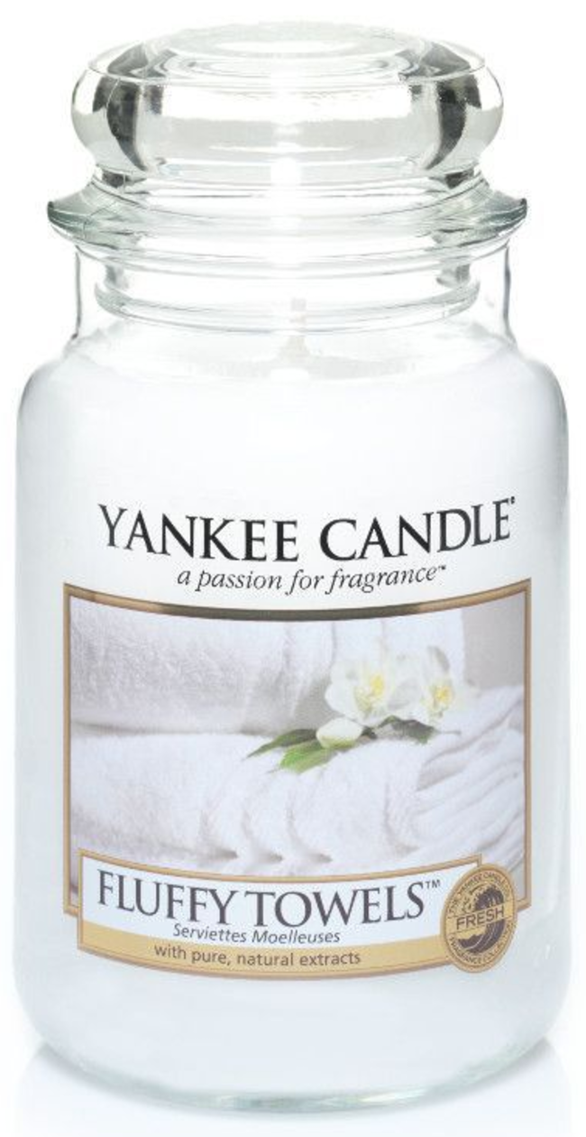 Yankee Candle Classic Large Jar Fluffy Towels Candle 623 g - £15.95