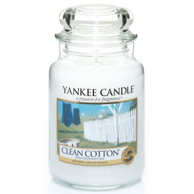 Yankee Candle  Classic Large Clean Cotton 623 g