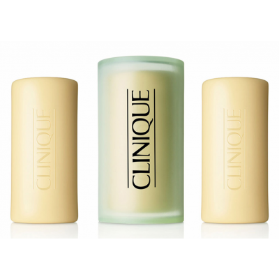 Clinique Facial Soap Oily With Dish 3 x 50 g