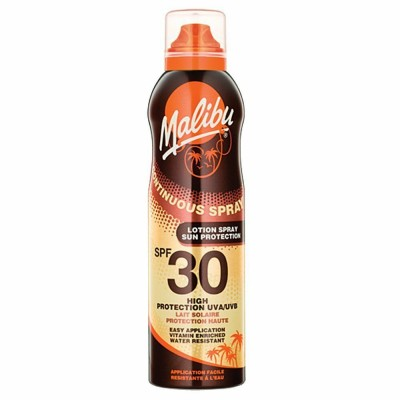 Malibu Continuous Sun Lotion Spray SPF30 175 ml