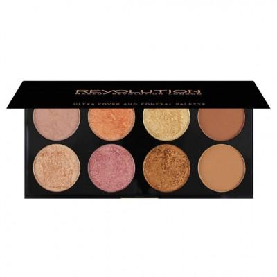 Revolution Makeup Ultra Blush Palette Golden Sugar 2 Rose Gold 13 g