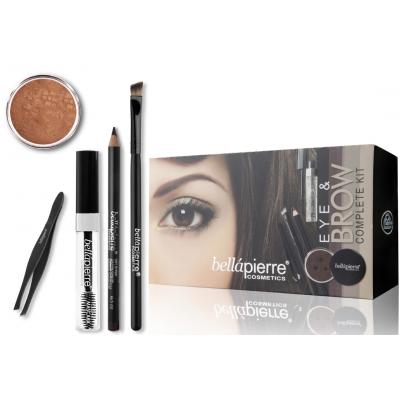 Bellápierre Cosmetics Eye & Brow Complete Kit Marrone 5 pcs