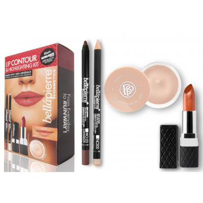 Bellápierre Cosmetics Lip Contour & Highlighting Kit Fierce 4 stk