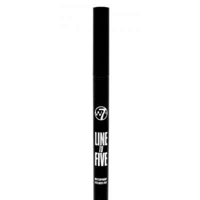 W7 Line To Five Waterproof Eyeliner Pen Black 1 stk